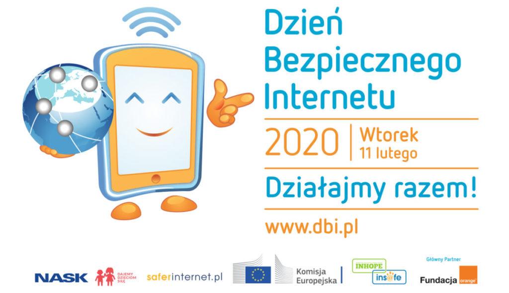 plakat z okazji dnia bezpiecznego internetu - 11 luty 2020